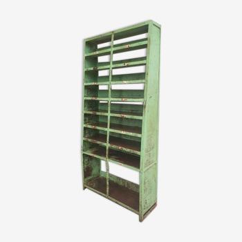 Compartiment en acier rack industriel vert