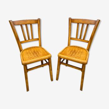 Set de 2 chaises bistrot Baumann french bistro chair vintage