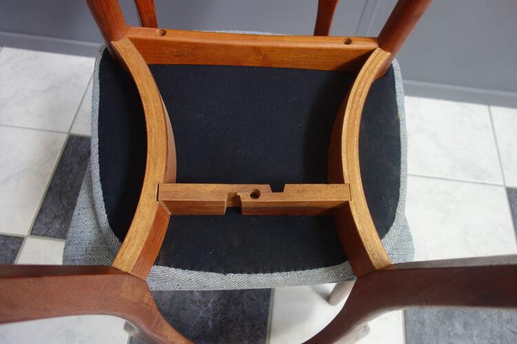 Ensemble de deux chaises Niels Koefoed En teck pour Koefoeds Hornslet