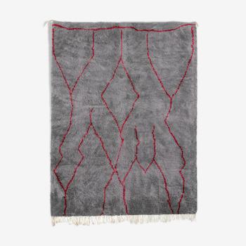 Tapis marocain moderne gris art contemporain 240x340cm