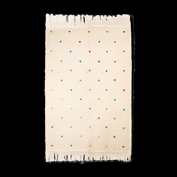 Tapis kilim berbère avec carres de couleurs 150 x 102 cm