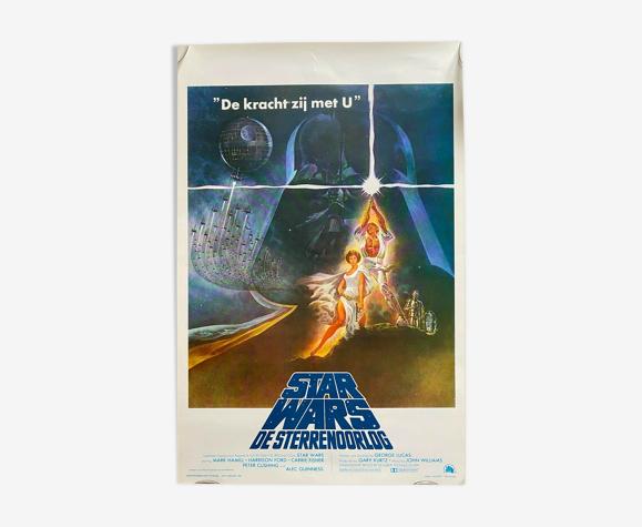 """Affiche cinéma """"La Guerre des Etoiles"""" Star Wars 36x54cm 1977"""