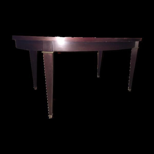 Selency Table de qualité avec allonge style Empire en acajou avec ses pieds en bronze.