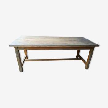 Table campagnarde vintage en pin