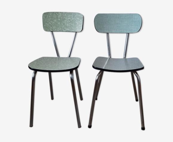 Lot de chaises formica vintage