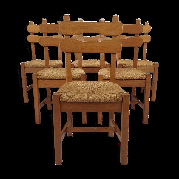 Chaises à manger rustiques vintage années 1950