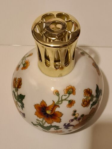 Lampe berger Tharaud Limoges décor floral