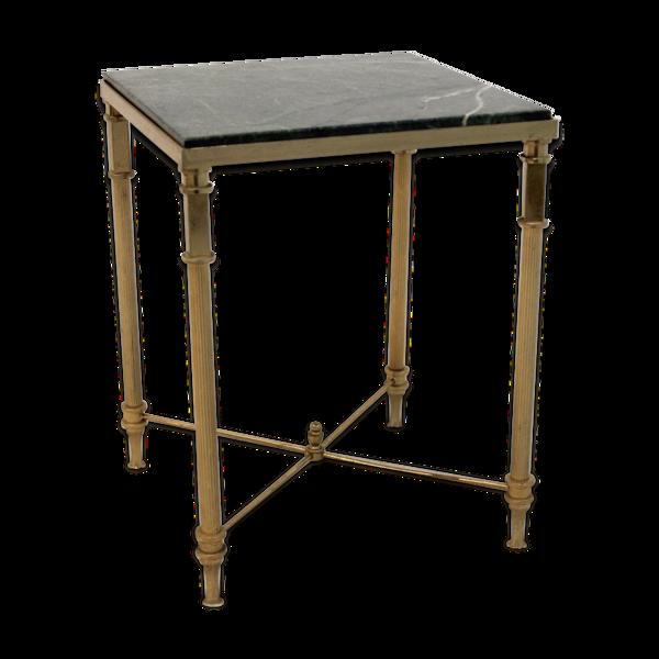 Table d'appoint luxe Français marbre et en laiton années 1960