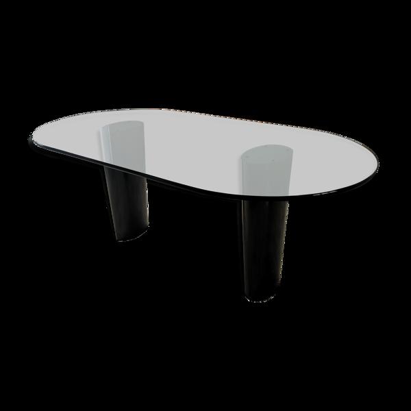 Selency Table ovale en verre modèle unique