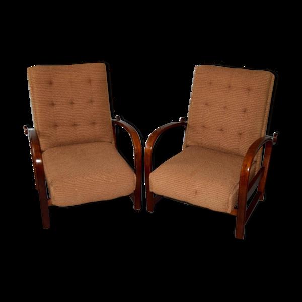 Paire de fauteuils art déco  Kropacek et Kozelka 1920