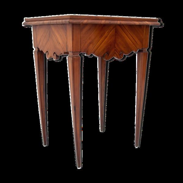 Selency Table d'appoint avec le dessus de porcelaine
