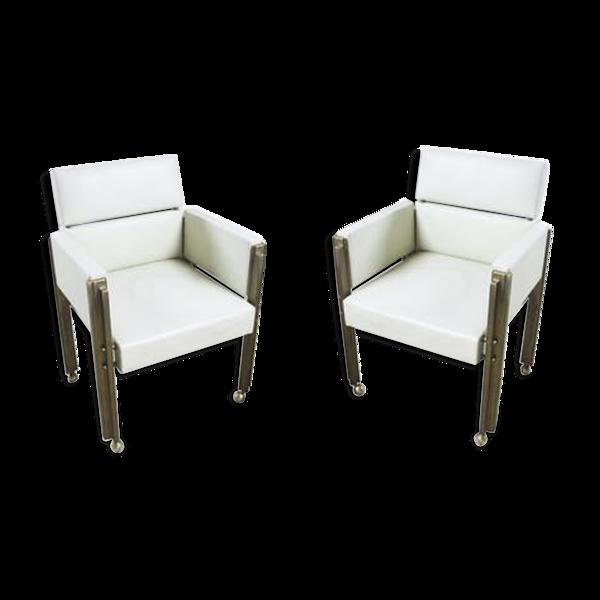 Paire de fauteuils tchécoslovaques 1970