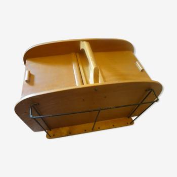 Boite à couture de table en bois