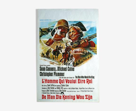 """Affiche cinéma originale """"L'homme qui voulut être roi"""" Sean Connery"""