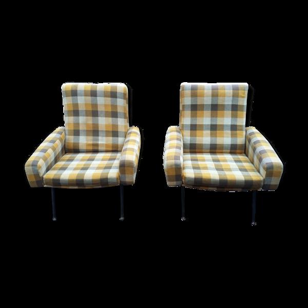 Selency Paire de fauteuils Troïka par Paul Geoffroy, édité par Airborne 1961