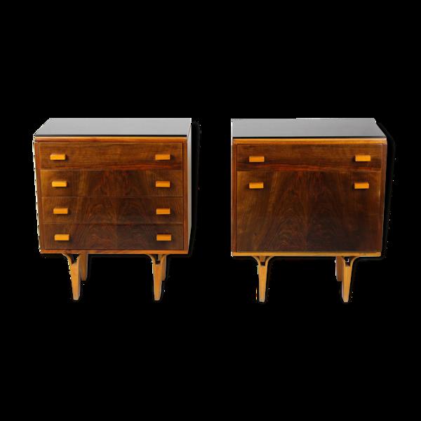 Selency Paire de tables de chevet fabriquées par Nový Domov Np, années 1970