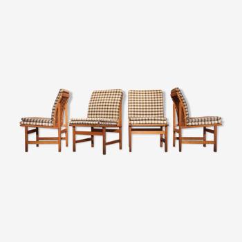 4 chaises modèle 3232 Borge Mogensen pour Fredericia Stolefabrik