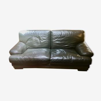 Canapé vintage cuir de buffle
