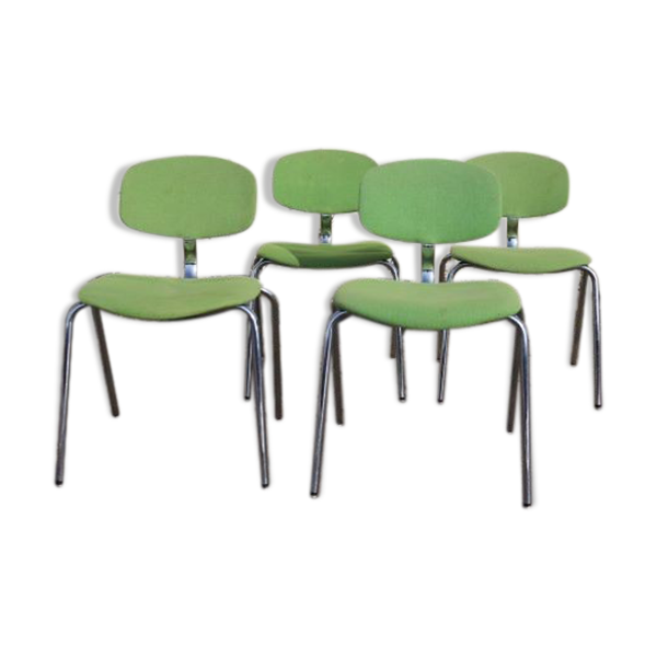 Ensemble de 4 chaises Strafor-steelcase des années 70