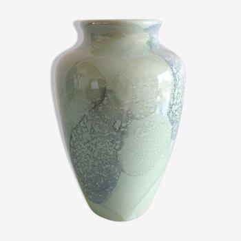 Vase ovoide vert nacré par Scheurich Keramik / vintage années 60-70