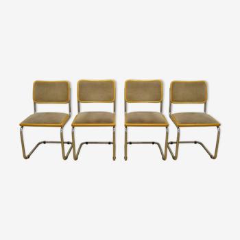 Série de 4 chaises Cesca B32 par Marcel Breuer