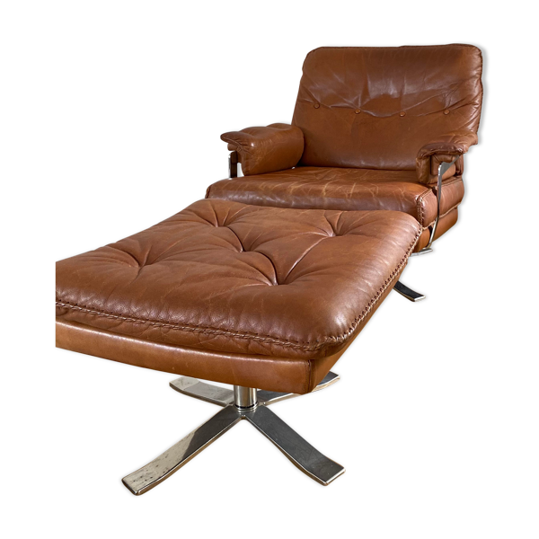 Selency Fauteuil et repose-pied Arne Norell