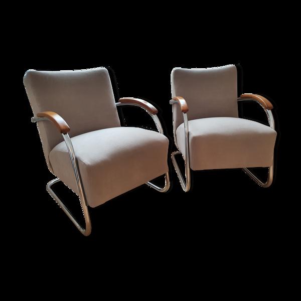 Paire de fauteuils Bauhaus de Mücke Melder.