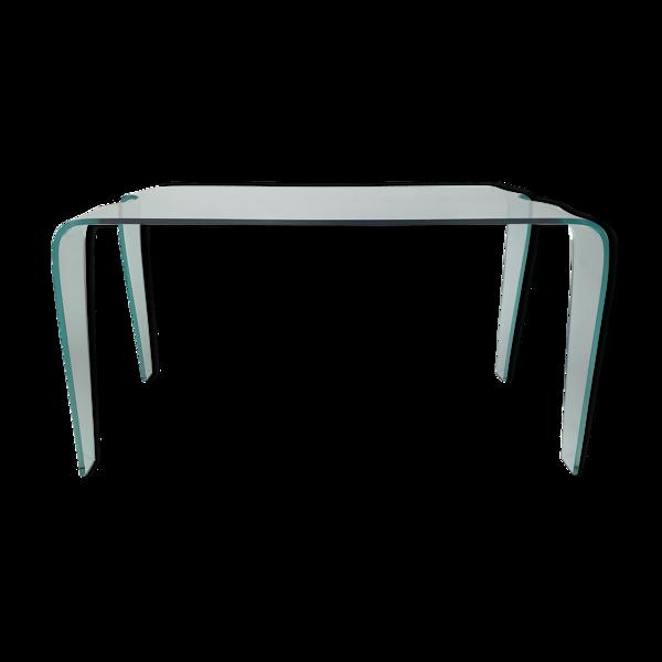 Table à manger en verre incurvé