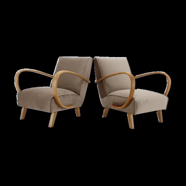 Selency Paire de fauteuils des années 1950 Jindrich Halabala , Tchécoslovaquie