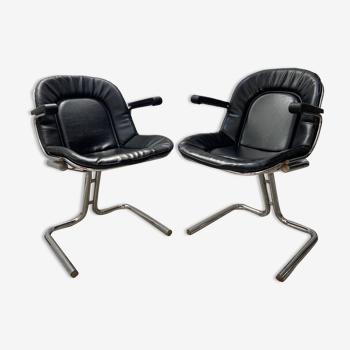 Paire de chaises Gastone Rinaldi 1970