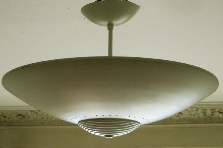 Luxo Norway disc ceiling light, 1970s