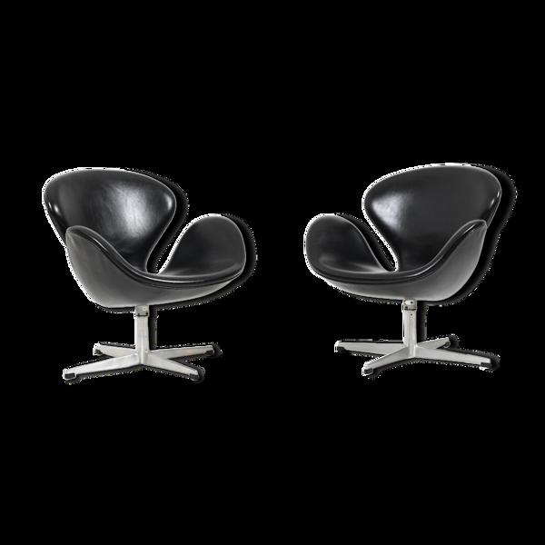 Paire de fauteuils Swan par Arne Jacobsen pour Fritz Hansen, 1963