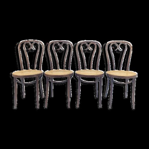 Selency Ensemble de 4 chaises à manger Zpm Radomsko Bentwood 1960