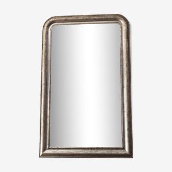 Miroir ancien argenté de style Louis Philippe miroir vintage 71x114cm
