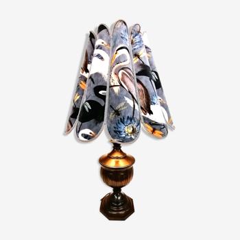 Lampe création unique en velours