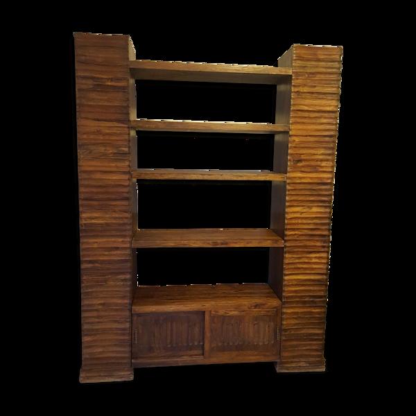 Bibliothèque en bois exotique