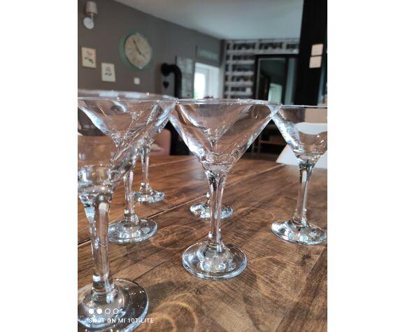 Lot de 6 verres à cocktail vintage