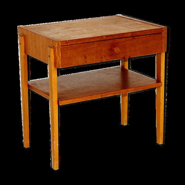 Table de chevet en teck Suède 1960