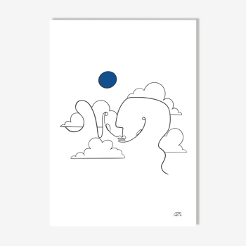 """Illustration n°09 """" La tête dans les nuages """" collection """" L'éveil """""""