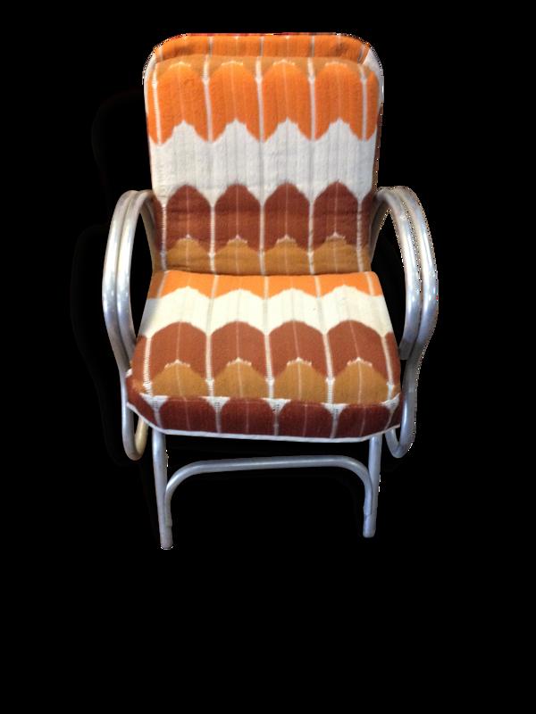 Rocking chair seventies américain