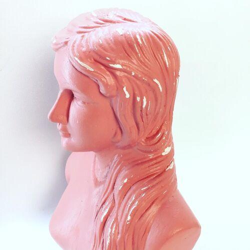 Statuette jeune fille en plâtre
