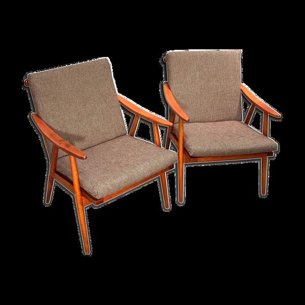 Selency Paire de fauteuils de Ton, République Tchèque 1960