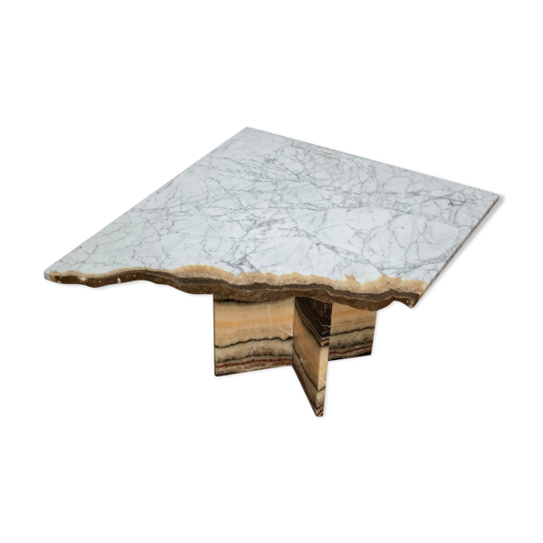 Selency Table basse marbre unique