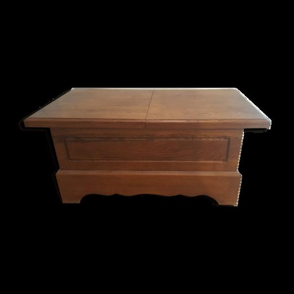 Table basse coffre chêne massif