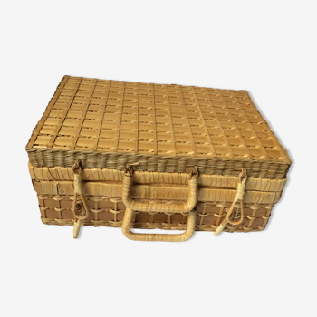 Vintage rattan/wicker case
