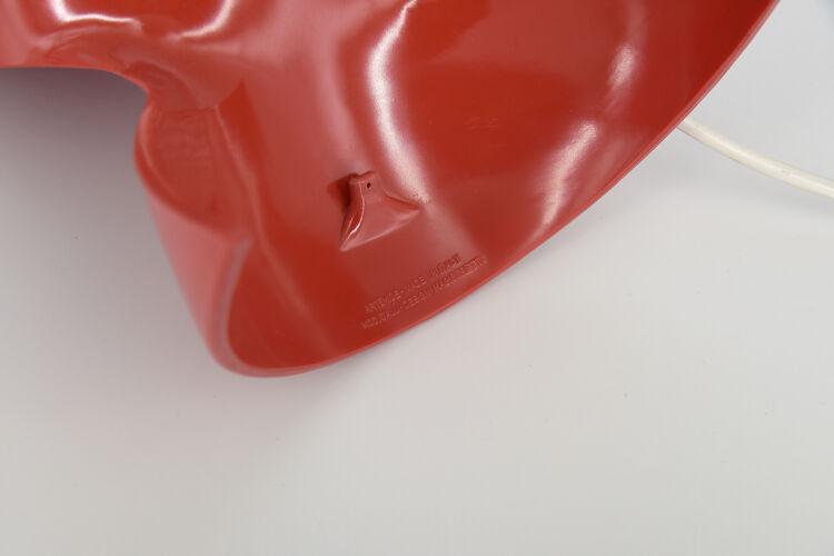 Lampe de table Dalù rouge par Vico Magistretti pour Artemide, 1960