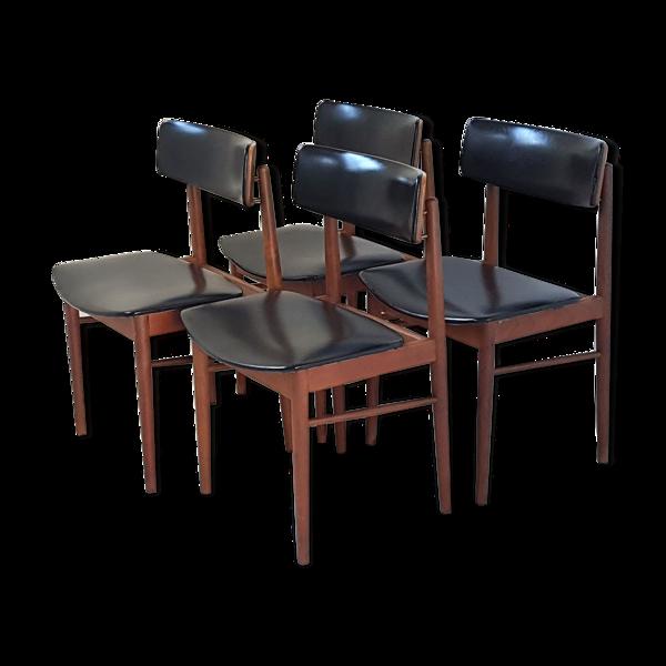 Selency Suite de 4 chaises scandinaves S. Chrobat pour Sax