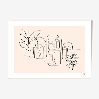 """Illustration """" Une ligne de Cailloutes 02 """""""