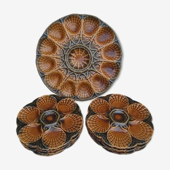 Service à huîtres Sarreguemines