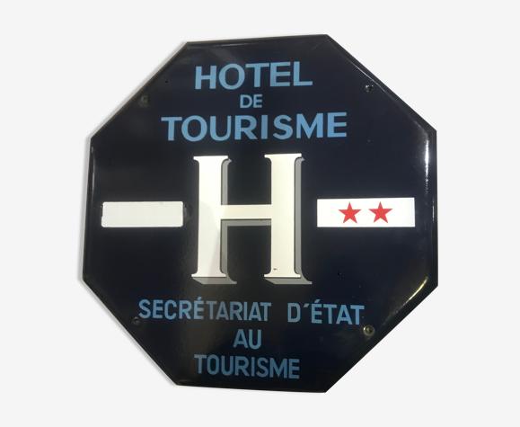 Plaque émaillée hôtel